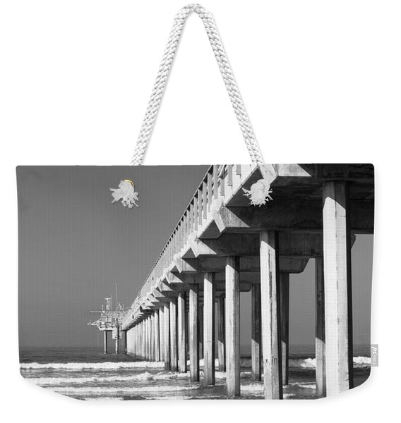 Bright White Scripps  Weekender Tote Bag