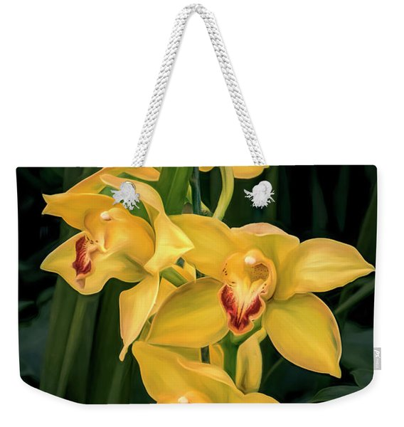 Bright Yellow Orchids Weekender Tote Bag