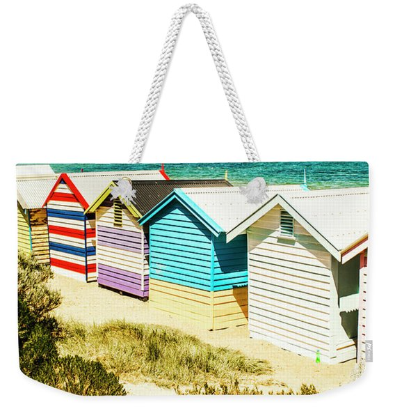 Brighton Beach, Melbourne Weekender Tote Bag