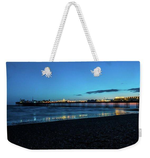 Brighton Pier At Sunset Ix Weekender Tote Bag