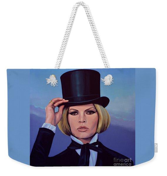 Brigitte Bardot Painting 2 Weekender Tote Bag