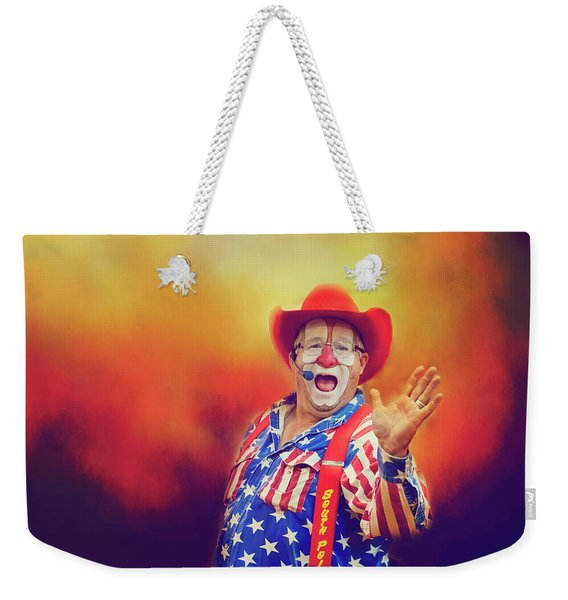 Bringing Fun To The Rodeo Greek Ellick Jr.  Weekender Tote Bag