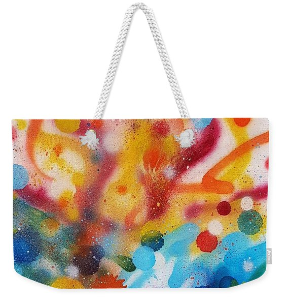 Bringing Life Spray Painting  Weekender Tote Bag