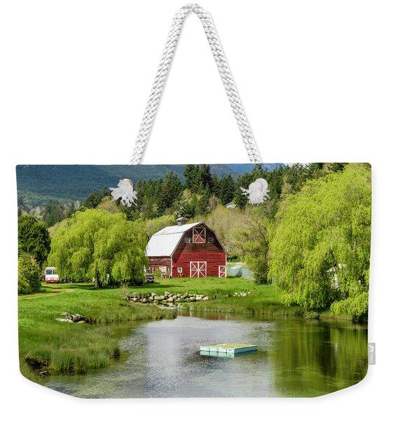 Brinnon Washington Barn By Pond Weekender Tote Bag