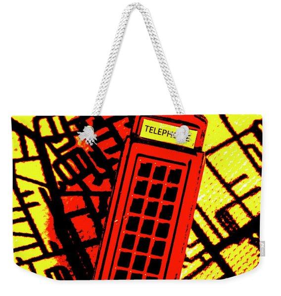 Brit Phone Box Weekender Tote Bag