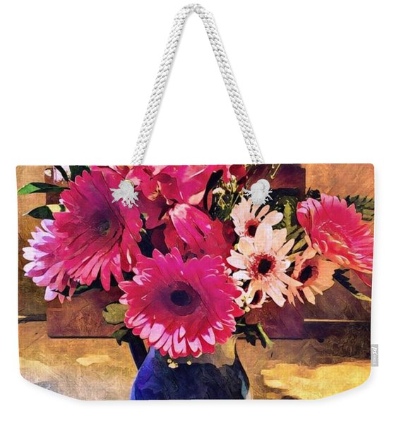 Brithday Wish Bouquet Weekender Tote Bag