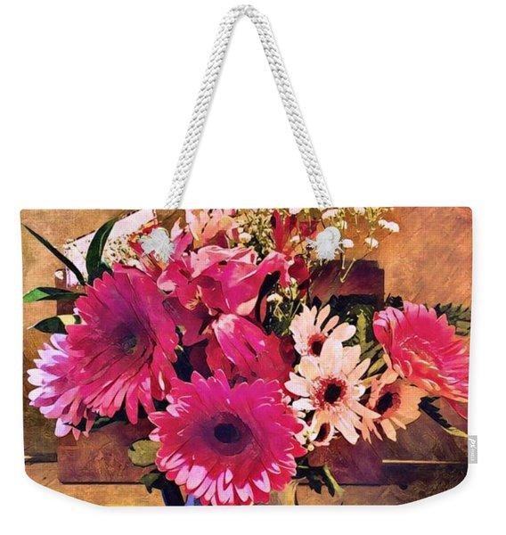 Brithday Wish Bouquet Weekender Tote Bag