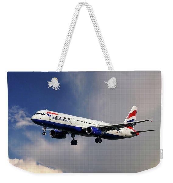 British Airways Airbus A321-231 Weekender Tote Bag