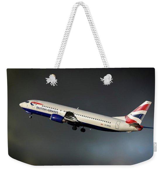 British Airways Boeing 737-436 Weekender Tote Bag