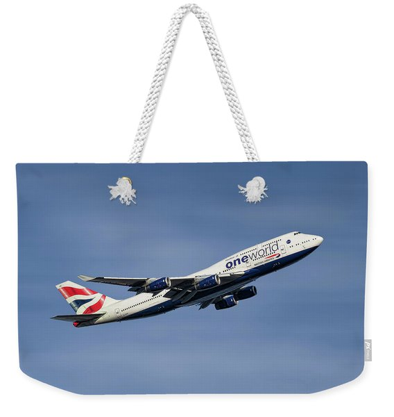 British Airways Boeing 747-436 Weekender Tote Bag