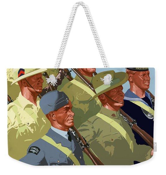 British Empire Soldiers Together Weekender Tote Bag