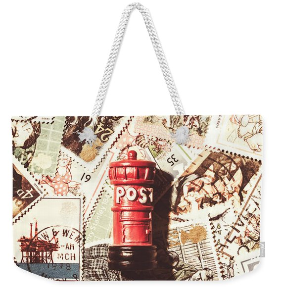 British Post Box Weekender Tote Bag