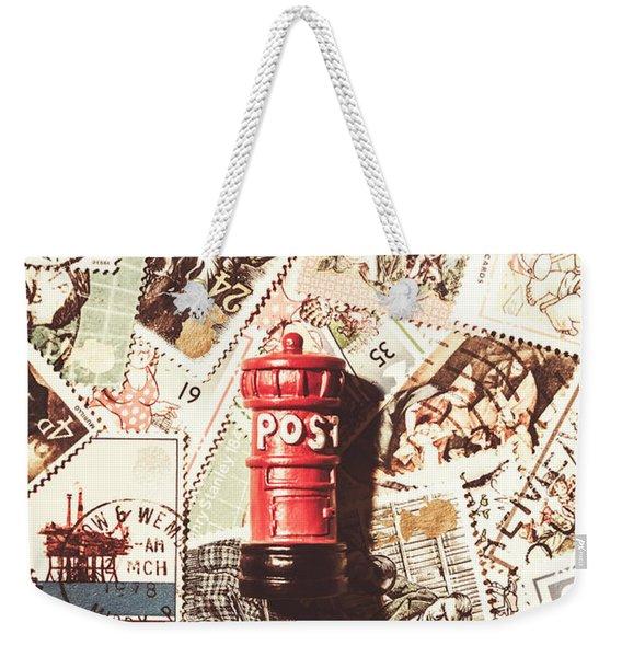 British Post Box Weekender Tote Bag