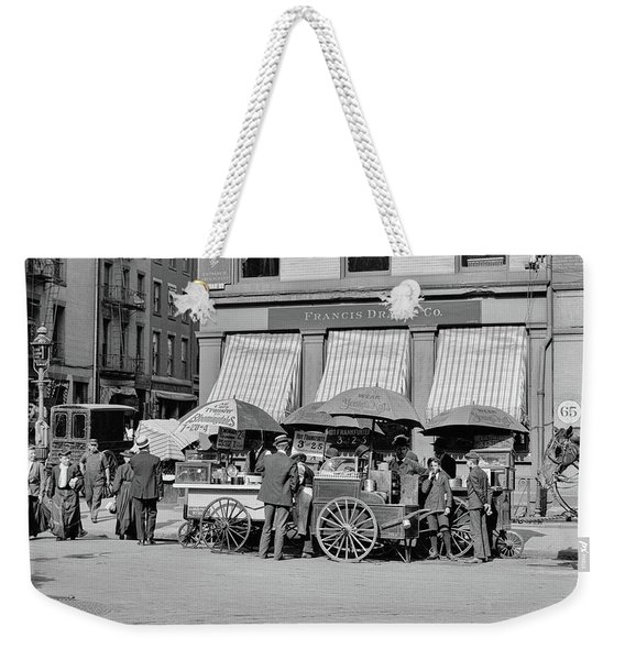 Broad St. Lunch Carts New York Weekender Tote Bag