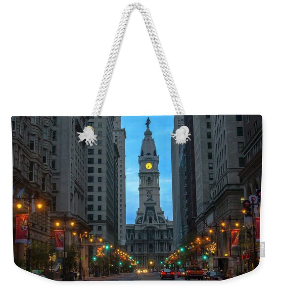 Broad Street After Dark - Philadelphia Weekender Tote Bag
