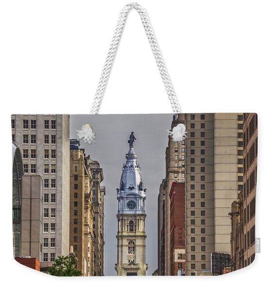 Broad Street And City Hall Philadelphia Weekender Tote Bag
