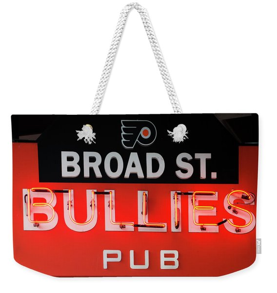 Broad Street Bullies Sign Weekender Tote Bag