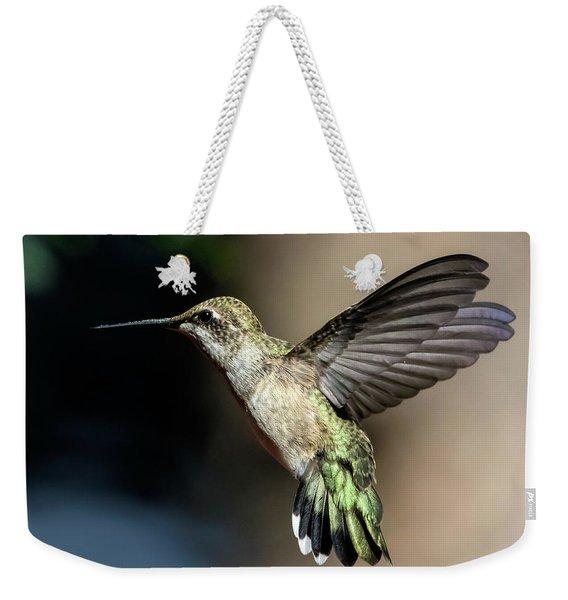 Broad-tailed Hummingbird Female Weekender Tote Bag