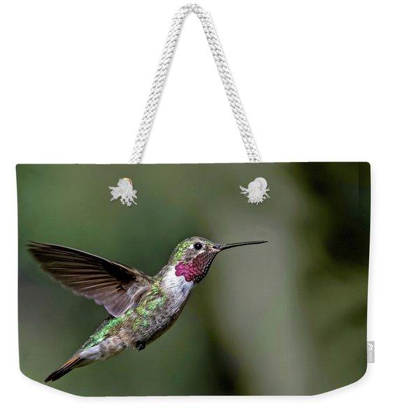 Broad-tailed Hummingbird Male Weekender Tote Bag