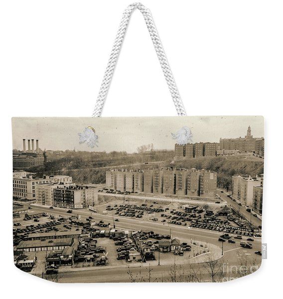 Broadway And Nagle Ave 1936 Weekender Tote Bag