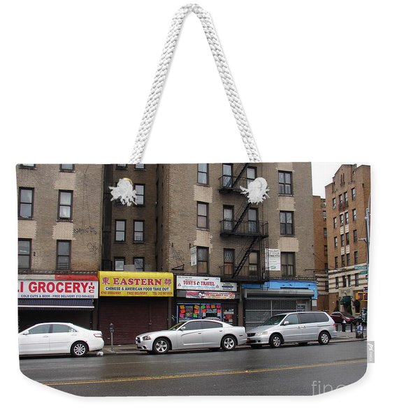 Broadway And Thayer Street In 2104 Weekender Tote Bag