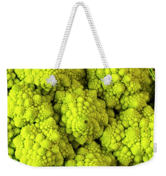 Broccoli Romanesco Close Up Weekender Tote Bag