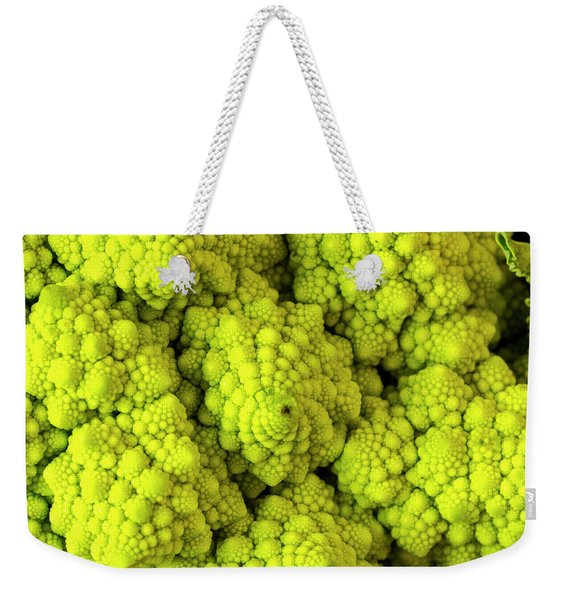 Broccoli Romanesco Close Up Weekender Tote Bag