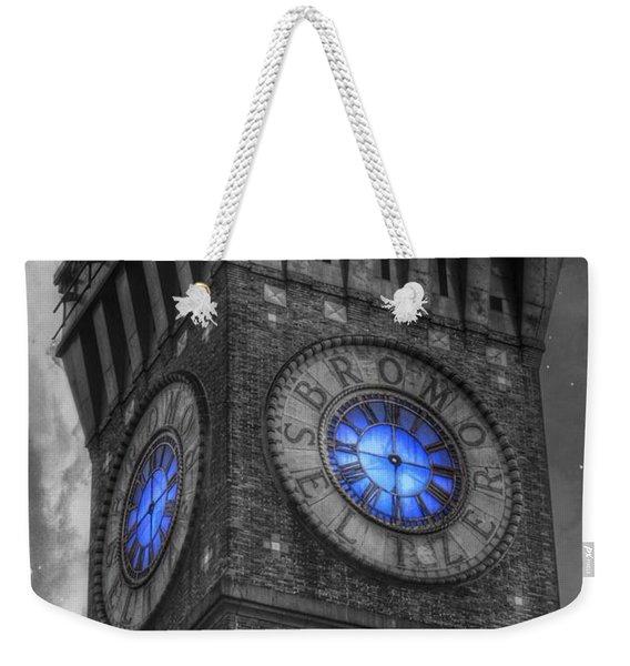Bromo Seltzer Tower Baltimore - Blue  Weekender Tote Bag
