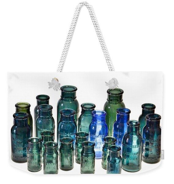 Bromo Seltzer Vintage Glass Bottles Collection Weekender Tote Bag