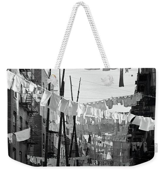 Bronx Laundry Day 1936 Weekender Tote Bag