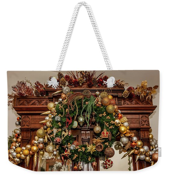 Bronze And Gold Weekender Tote Bag