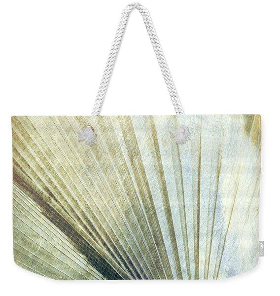 Bronze Blue Palm Frond Lh Weekender Tote Bag