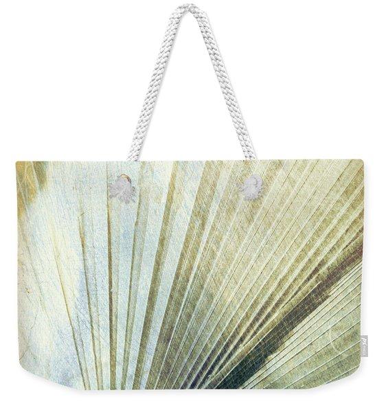 Bronze Blue Palm Frond Rh Weekender Tote Bag