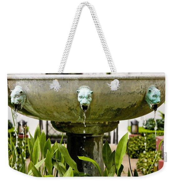 Bronze Civit Head Fountain Weekender Tote Bag