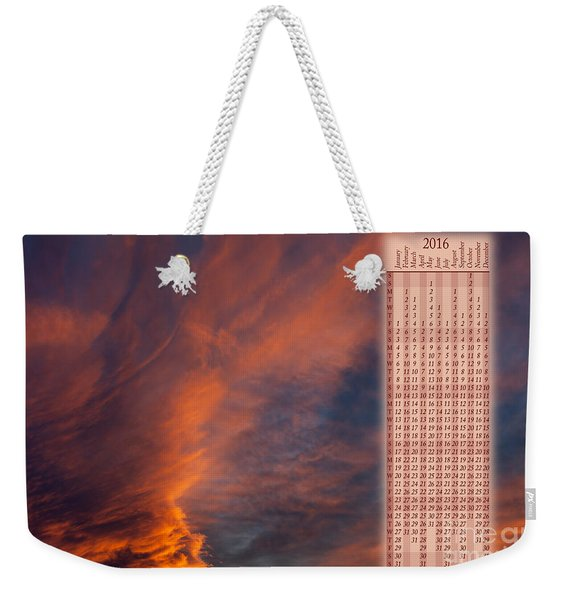 Brooding Orange Sunset Calendar2016 Weekender Tote Bag