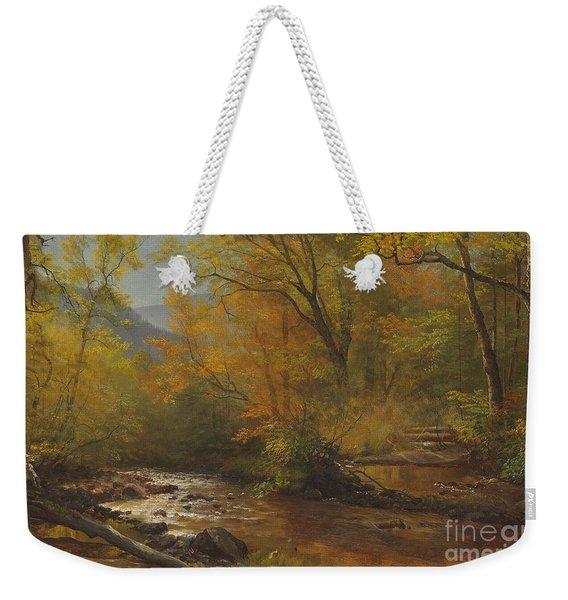 Brook In Woods Weekender Tote Bag
