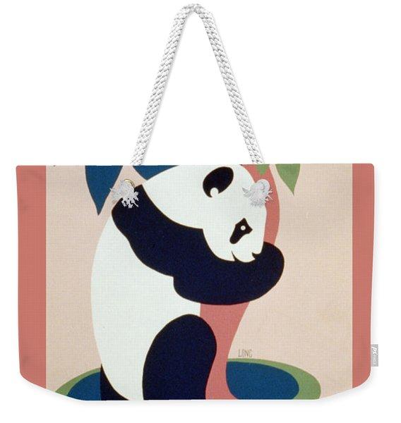 Brookfield Zoo Panda Weekender Tote Bag