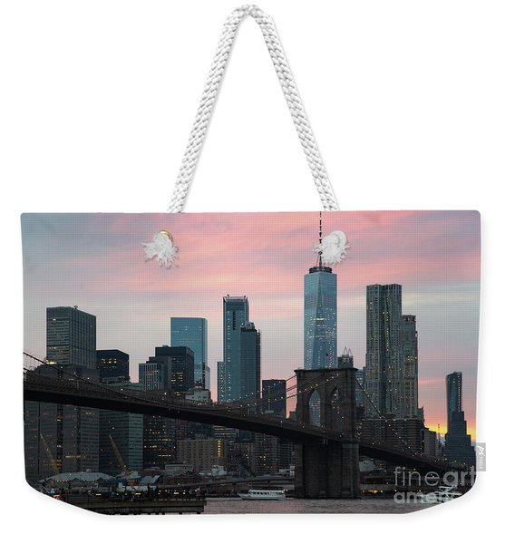 Brooklyn Bridge New York Weekender Tote Bag