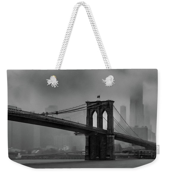 Brooklyn Bridge In A Storm 2 Weekender Tote Bag