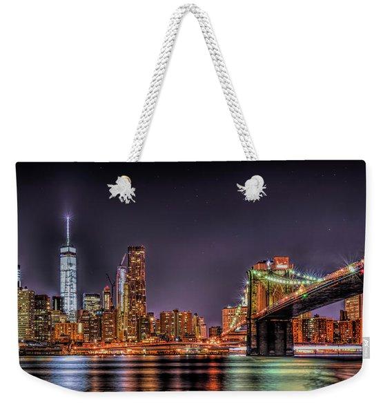 Brooklyn Bridge Park Nights Weekender Tote Bag