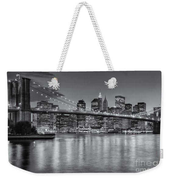 Brooklyn Bridge Twilight II Weekender Tote Bag