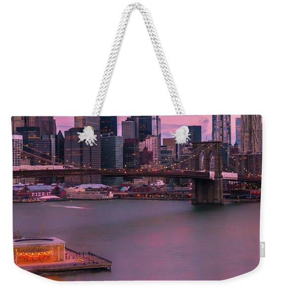 Brooklyn Bridge World Trade Center In New York City Weekender Tote Bag