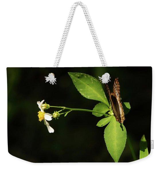 Brown Butterfly On Leaves Weekender Tote Bag