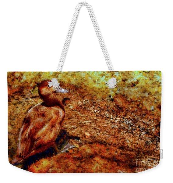 Brown Duck Weekender Tote Bag
