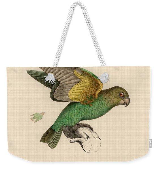 Brown-headed Parrot, Piocephalus Cryptoxanthus Weekender Tote Bag