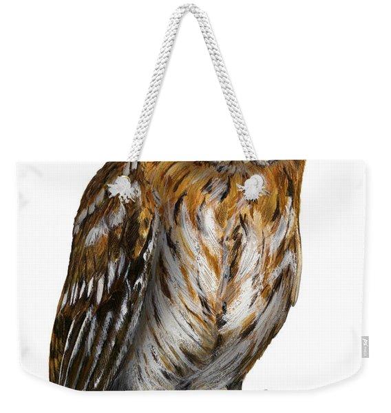 Brown Owl Or Eurasian Tawny Owl  Strix Aluco - Chouette Hulotte - Carabo Comun -  Nationalpark Eifel Weekender Tote Bag