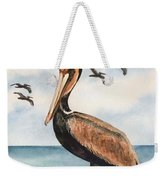 Brown Pelicans Weekender Tote Bag