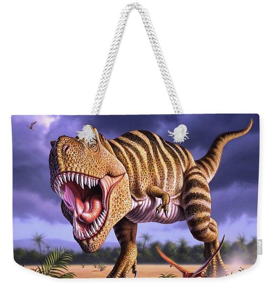 Brown Rex Weekender Tote Bag