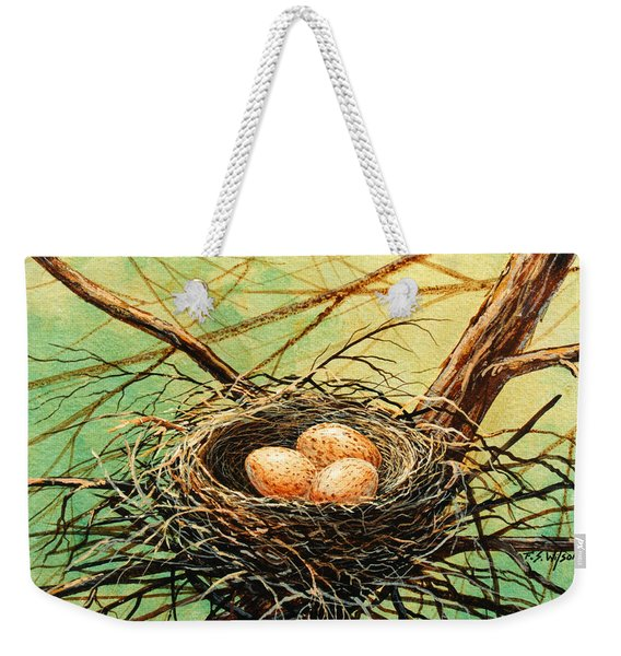 Brown Speckled Eggs Weekender Tote Bag