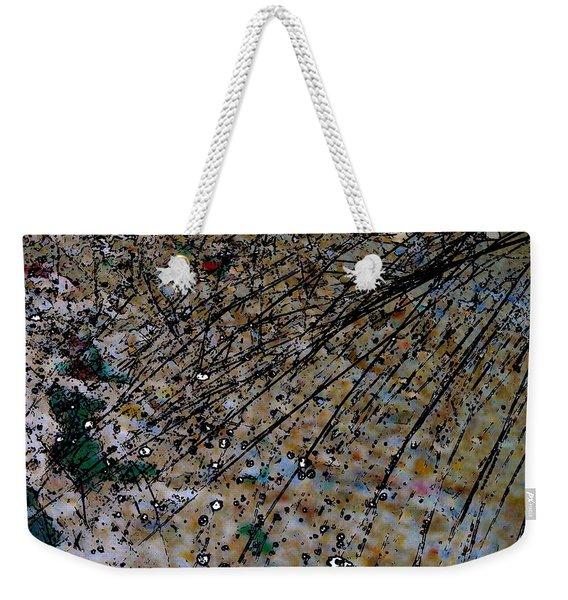 Brown Splatter Weekender Tote Bag